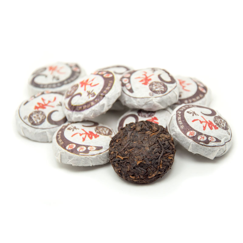 Cooked Pu'er mini cakes (4 pcs)